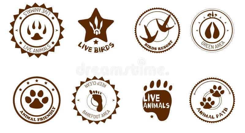 Tierkennsatzfamilie lizenzfreie abbildung