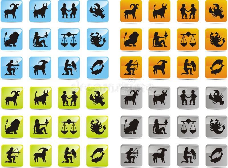 Tierkreisikonen stock abbildung