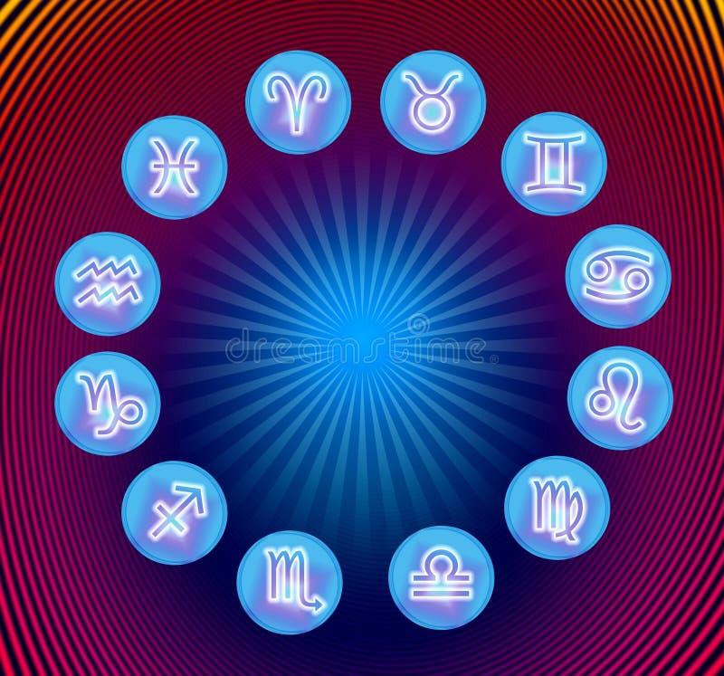 Tierkreiszeichen vektor abbildung
