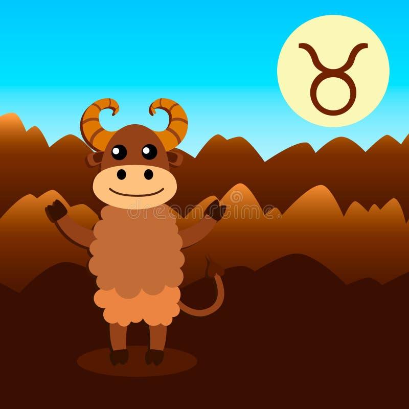 Tierkreiszeichen Stier lizenzfreie abbildung