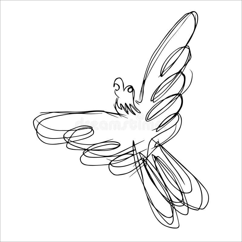 Tierlinie Art Monochrome Style vektor abbildung