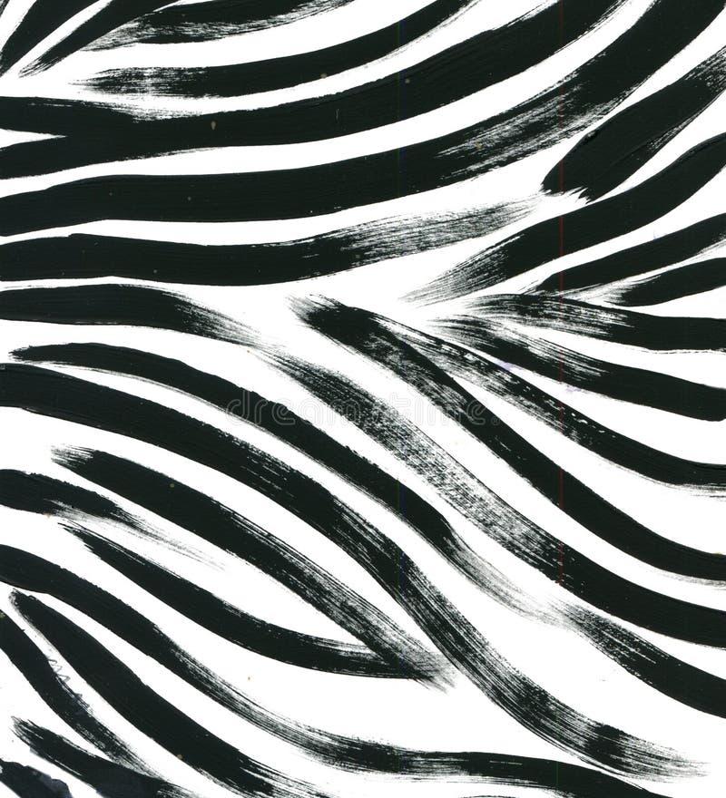 Tierpelzhintergrund des Pelz-Aquarells der Tigerhautzusammenfassung exotische gezeichneter Hintergrund Hand Dekoratives Bild eine lizenzfreie abbildung