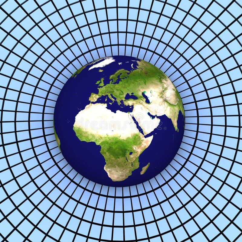 tierra 3d (Europa) fotografía de archivo
