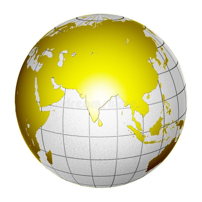 Tierra aislada 3D del globo del planeta stock de ilustración