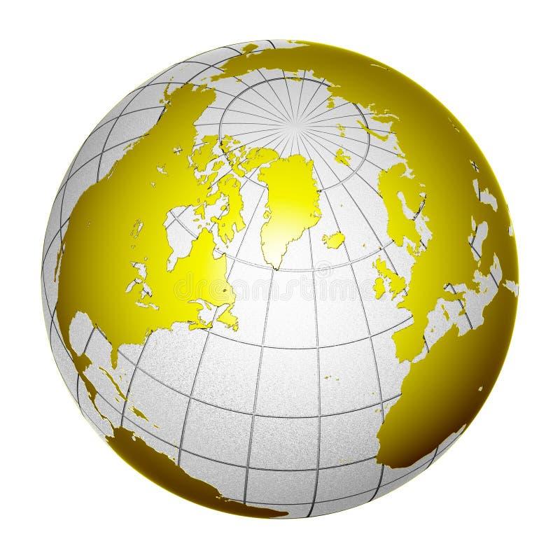 Tierra aislada 3D del globo del planeta ilustración del vector