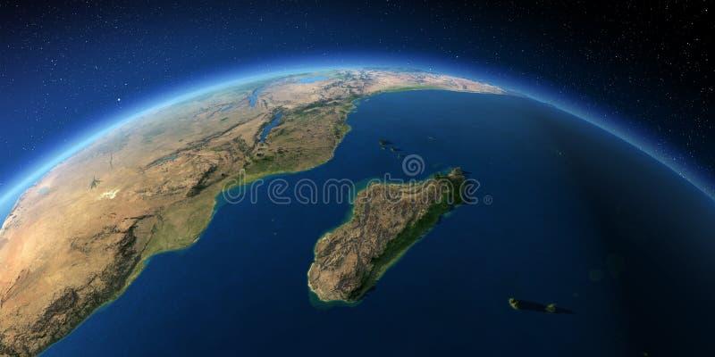 Tierra altamente detallada ?frica y Madagascar
