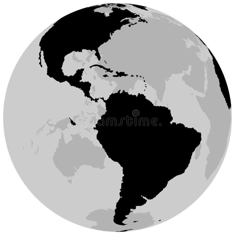 Tierra América - globo ilustración del vector