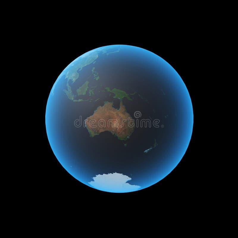 Tierra Australia ilustración del vector