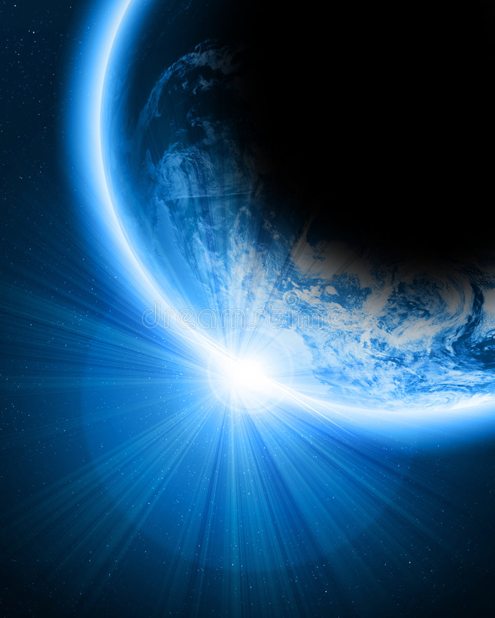 Tierra azul stock de ilustración