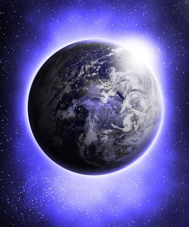 Tierra azul que brilla intensamente libre illustration