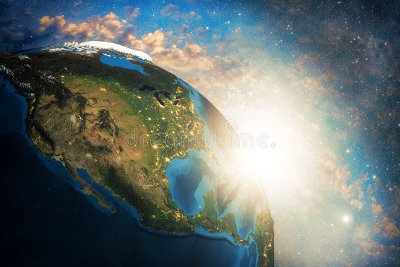 Tierra colorida detallada ilustración del vector