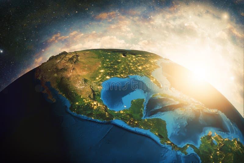 Tierra colorida detallada stock de ilustración