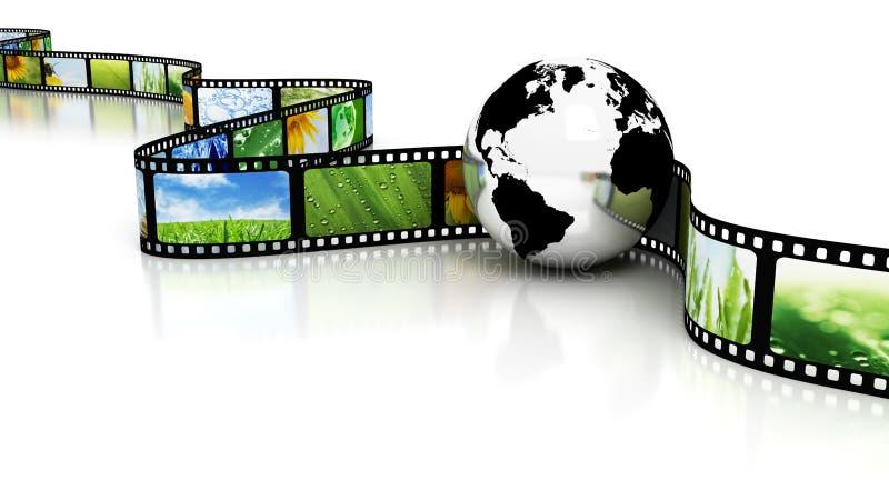 Tierra con la película ilustración del vector