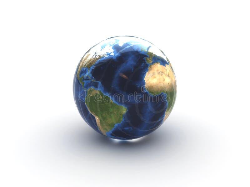 Tierra de cristal ilustración del vector