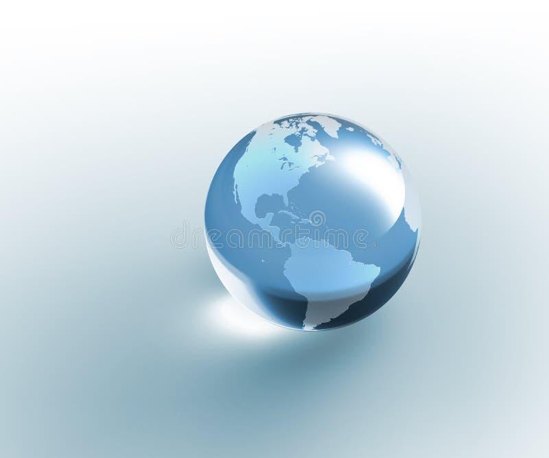 Tierra de cristal transparente del globo ilustración del vector