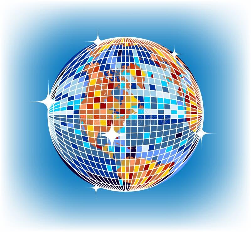 Tierra de Discoball ilustración del vector