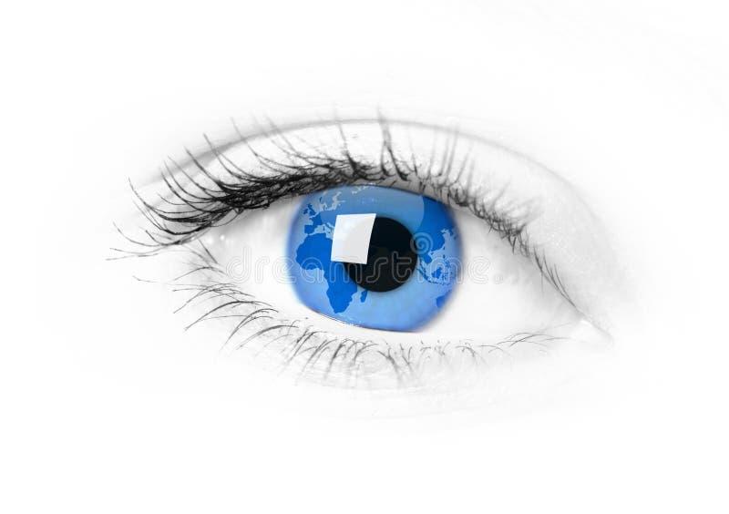 Tierra de la anchura del ojo adentro stock de ilustración