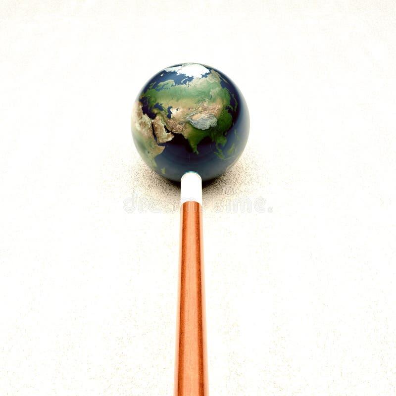 Tierra de la bola de señal ilustración del vector