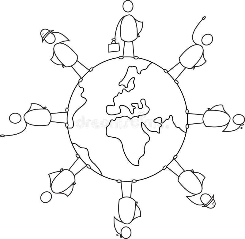 Tierra de la diversidad ilustración del vector