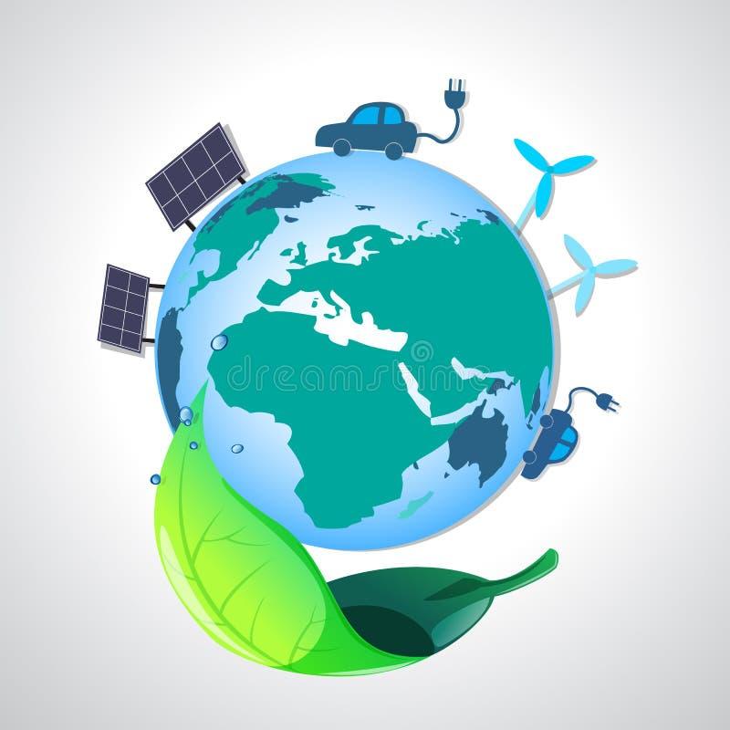 Tierra de la ecología stock de ilustración