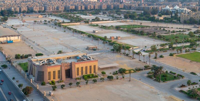 Tierra de la exposición en Nasr City, con la autoridad general para la inversión y las zonas francas que construyen, El Cairo, Eg foto de archivo