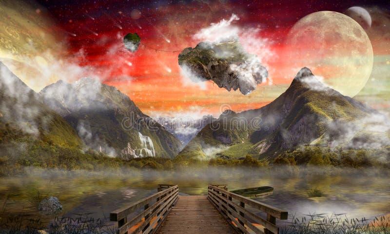 Tierra de la fantasía, país de las maravillas imágenes de archivo libres de regalías