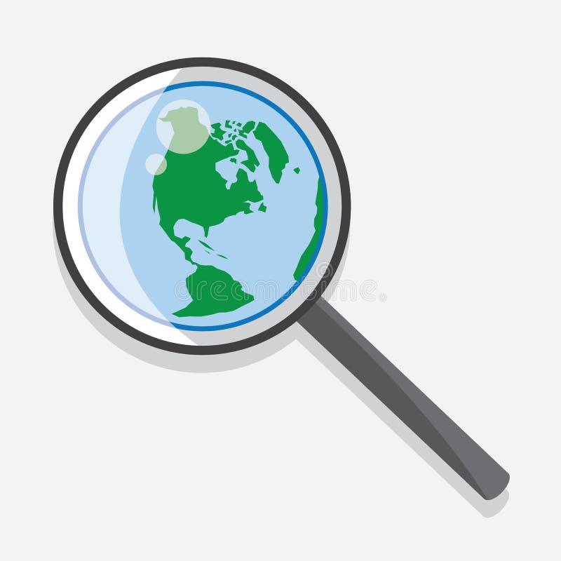 Download Tierra de la lupa ilustración del vector. Ilustración de comunicación - 41907934