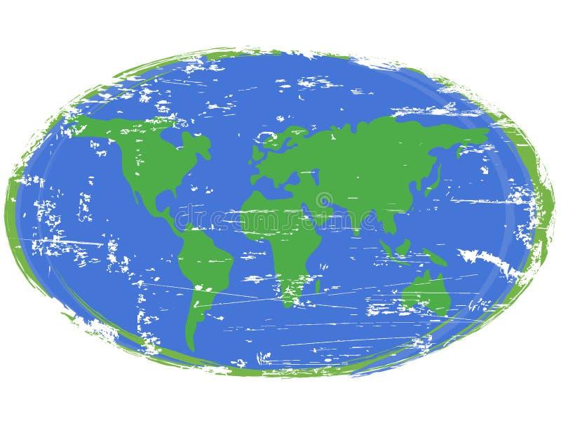 Tierra de la pintura ilustración del vector