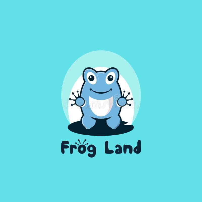 Tierra de la rana stock de ilustración
