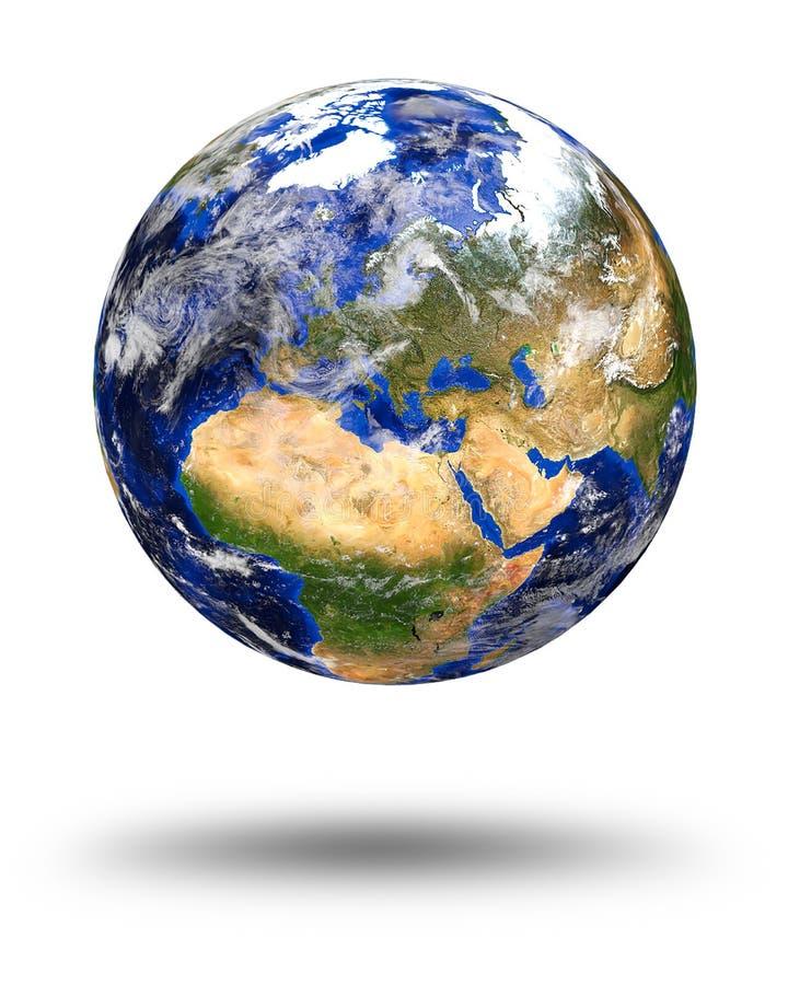 Tierra de mármol azul del planeta ilustración del vector