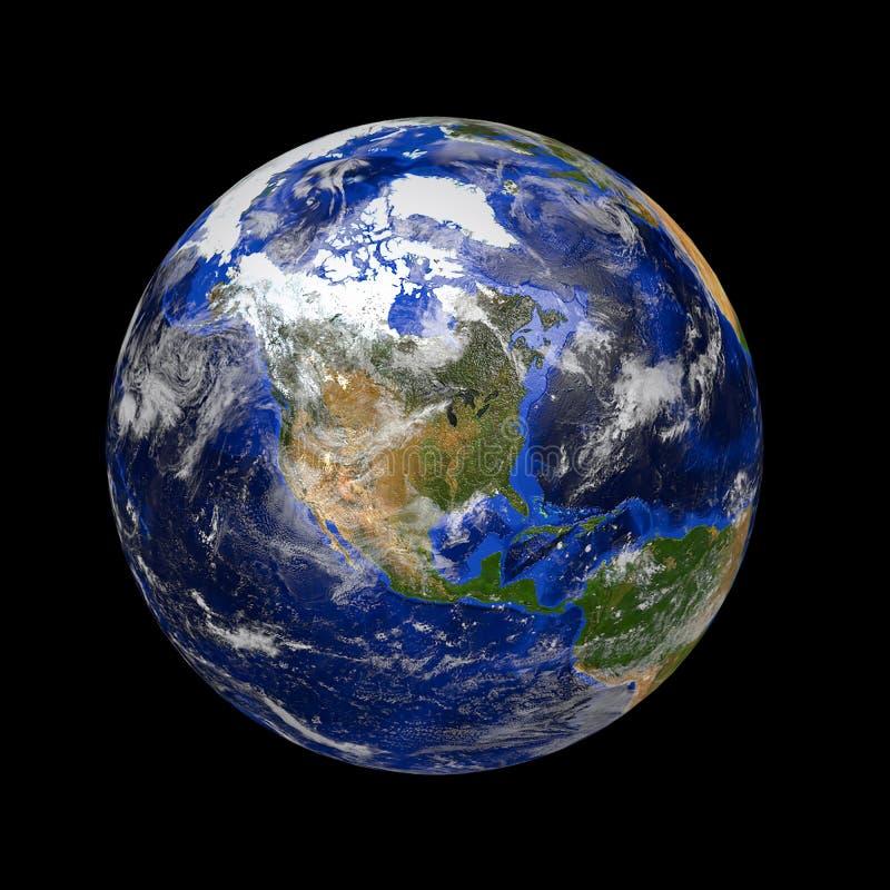 Tierra de mármol azul del planeta imagenes de archivo