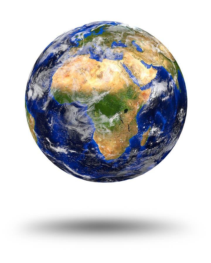 Tierra de mármol azul del planeta stock de ilustración