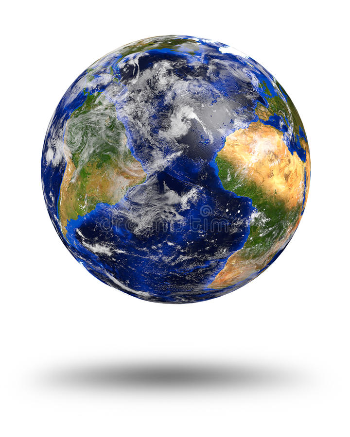 Tierra de mármol azul del planeta fotografía de archivo libre de regalías