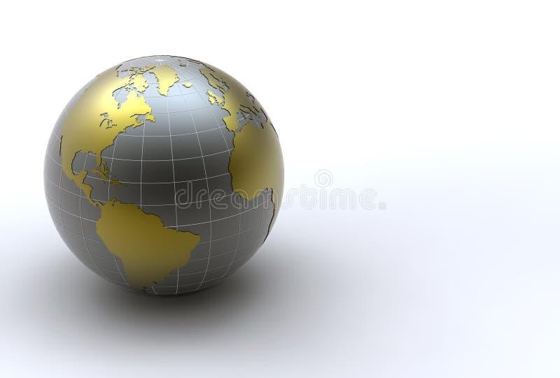 Tierra de oro ilustración del vector