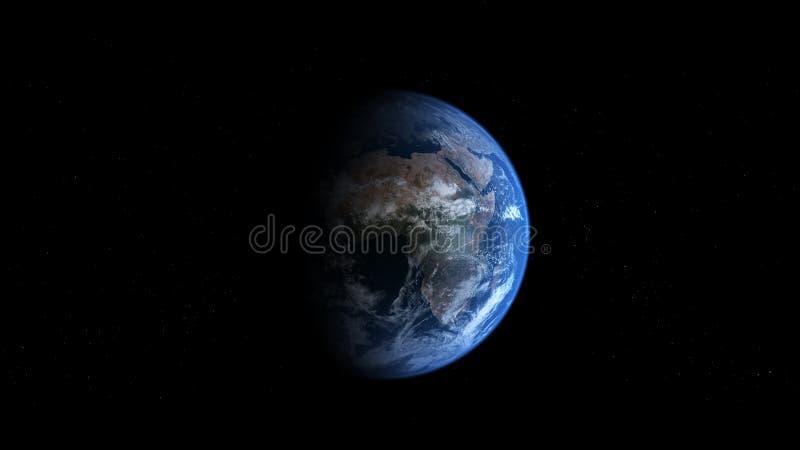 Tierra de Photoreal - África ilustración del vector