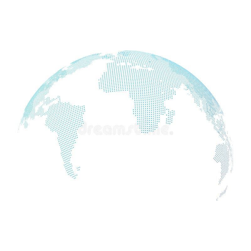 Tierra de semitono punteada extracto del globo Ilustraci?n del vector aislada en el fondo blanco libre illustration