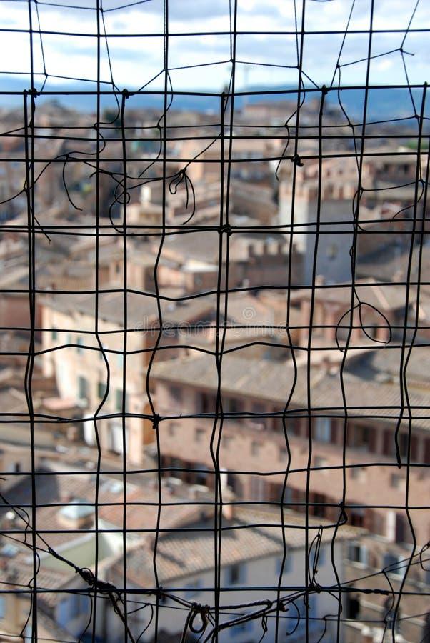 Tierra de Siena a través del alambre imágenes de archivo libres de regalías