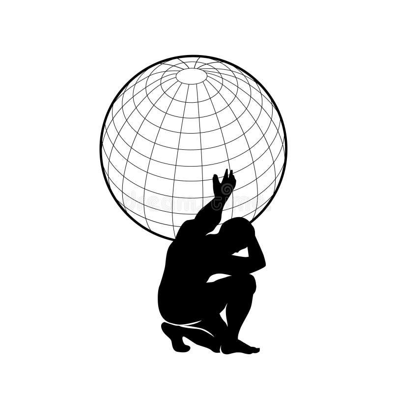 Tierra del atlas y del planeta stock de ilustración