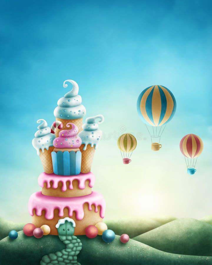 Tierra del dulce de la fantasía libre illustration