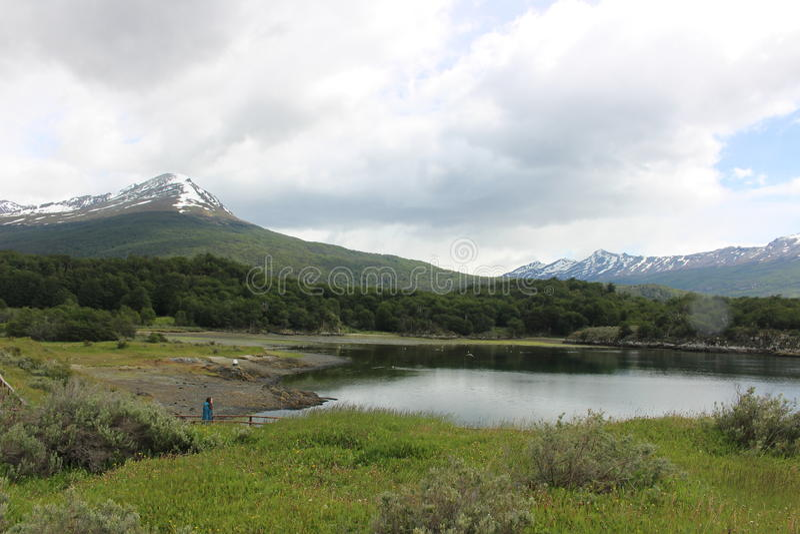 Tierra Del Fuego - paisagem imagem de stock