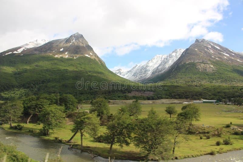 Tierra Del Fuego - paisagem imagens de stock
