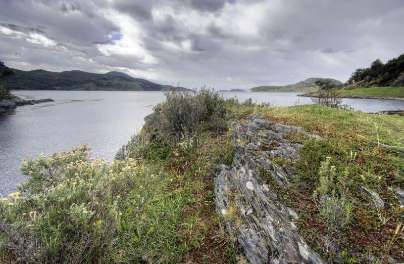 Tierra del Fuego, Ushuaia. Argentina imagens de stock