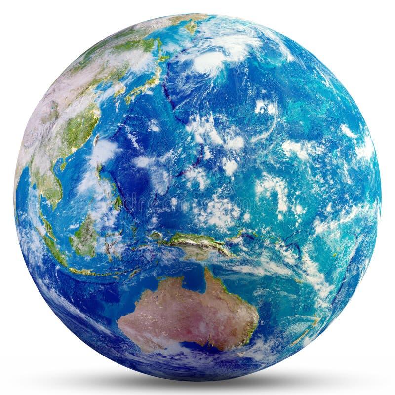 Tierra del planeta - Australia y Oceanía fotos de archivo