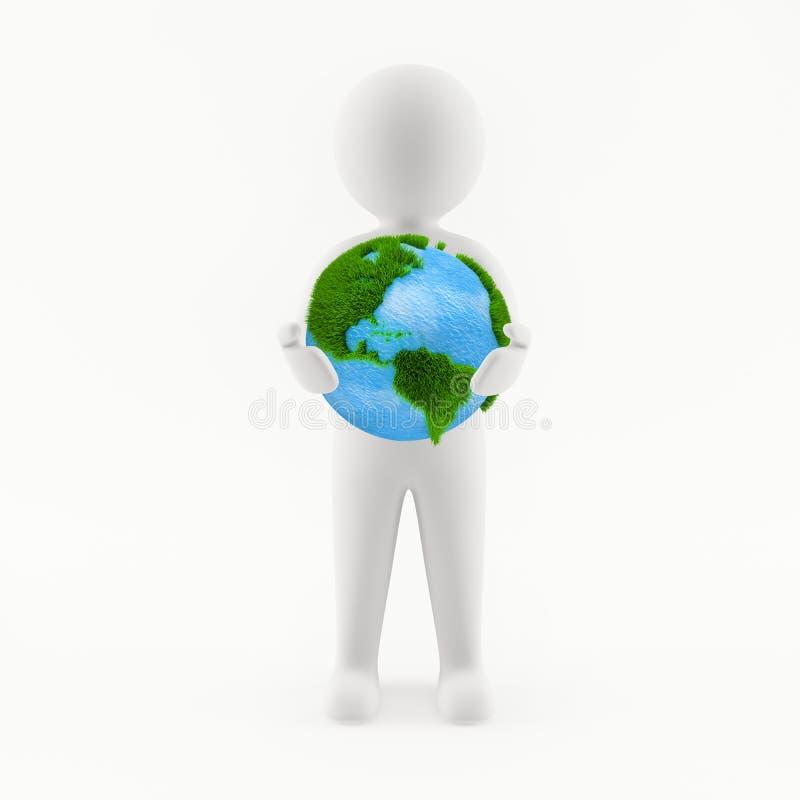 tierra del planeta de la explotación agrícola del hombre 3D libre illustration
