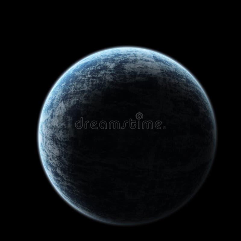 Tierra del planeta del eclipse ilustración del vector