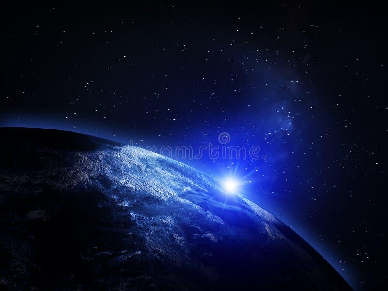 Tierra del planeta del espacio libre illustration