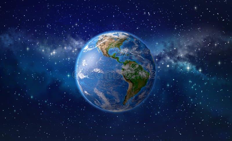 Tierra del planeta en espacio exterior stock de ilustración