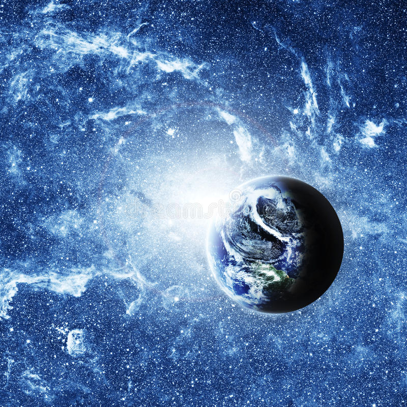 Tierra del planeta profundamente en espacio stock de ilustración