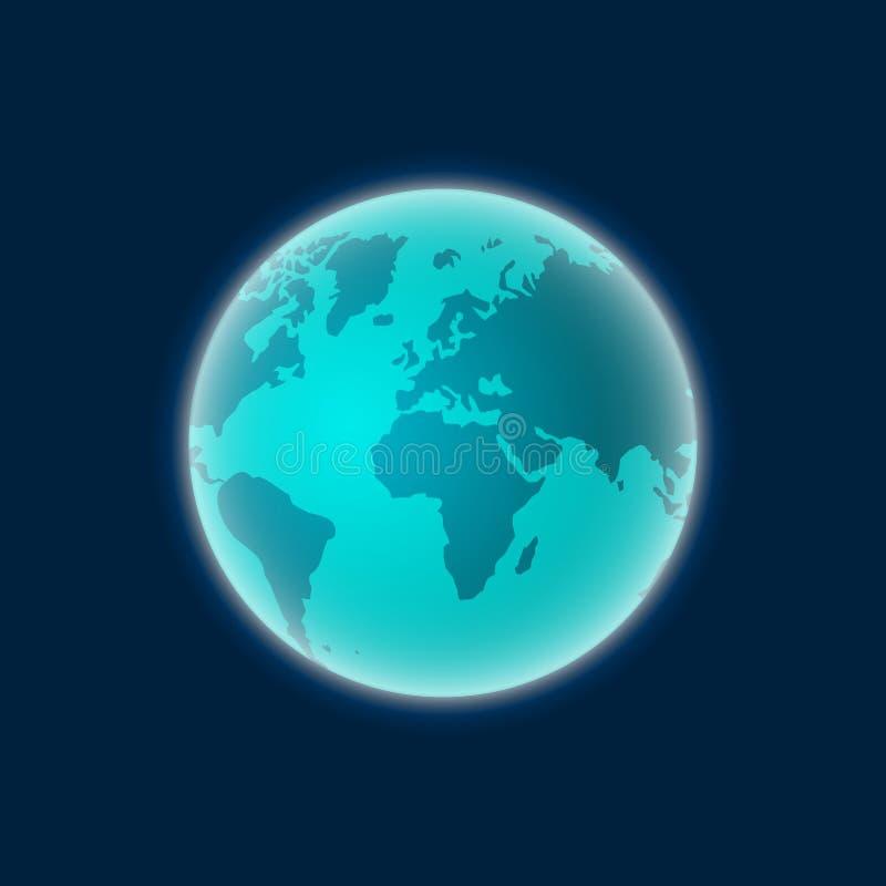 Tierra del vector de espacio, globo del planeta aislado libre illustration