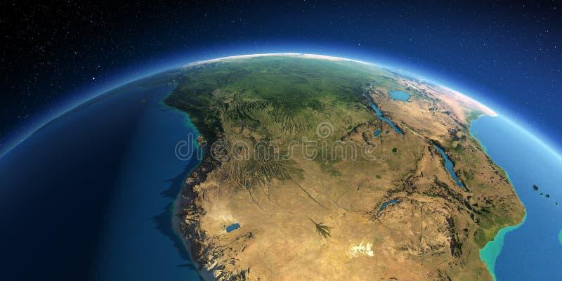 Tierra detallada África meridional Angola y Congo